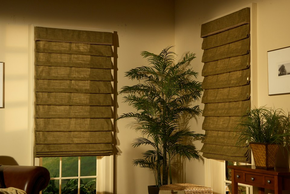 Fabric Roman Shades Louisville Blinds And Drapery