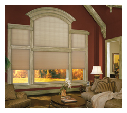 specialty shapes cellular shades - Louisville Blinds & Drapery Louisville KY